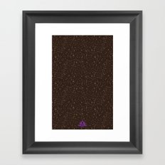 Trail Status / Brown Framed Art Print