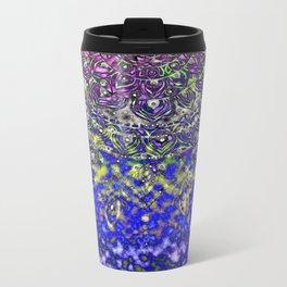 Multicolor Mandala Art Metal Travel Mug
