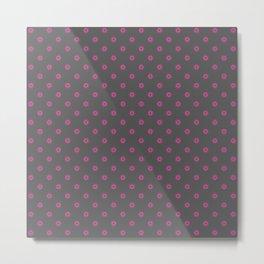 Pink and grey star pattern Metal Print