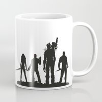 guardians of the galaxy Mugs featuring Guardians of the Galaxy 02 by Colour Mugs