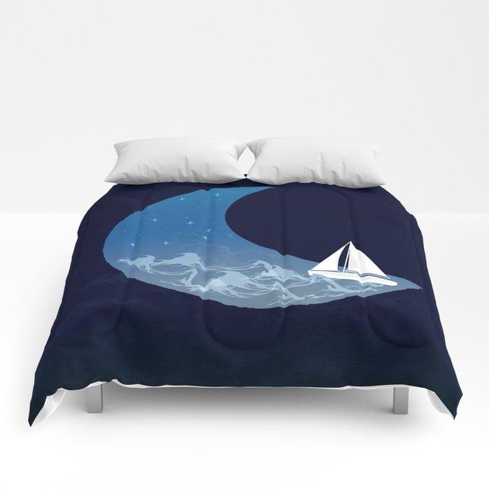 Moon Sailing Comforters