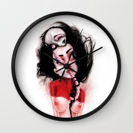 Candy Cane Blood Wall Clock