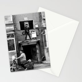 In the hood. Stationery Cards