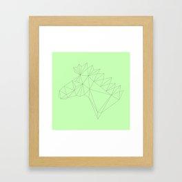 Poly-Horse Framed Art Print