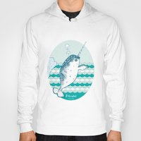 narwhal Hoodies featuring Narwhal by 。i。f。studio