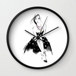 Polka Dot Dress Wall Clock