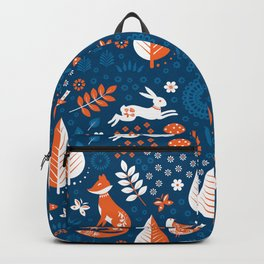 Scandi Forest Blues Backpack