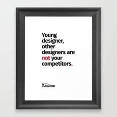 Young Designer — Advice #1 Framed Art Print