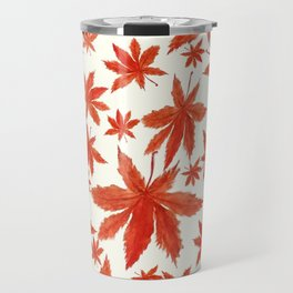 red maple leaves pattern Travel Mug