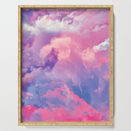 DREAMER Pastel Clouds Serving Tray
