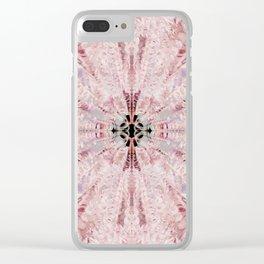 Symmetrical Bohemian Art Design 3 Clear iPhone Case