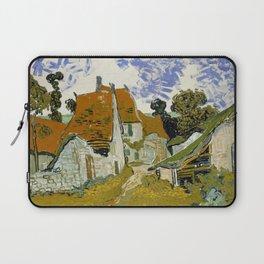 """Vincent van Gogh """"Street in Auvers-sur-Oise"""" Laptop Sleeve"""