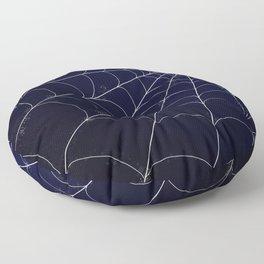 Spiderweb on Midnight Floor Pillow