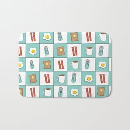 Diner Breakfast Bath Mat