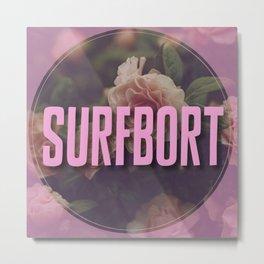 Surfbort Pink Floral Print Metal Print