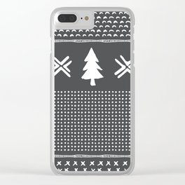 Evergreen in Gray Clear iPhone Case
