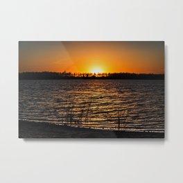 Sunset Over Lake 6 Metal Print