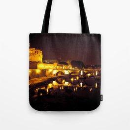Castel sant'angelo Roma Tote Bag