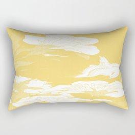 japanese flowers. Yellow Rectangular Pillow