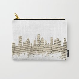 Houston Texas Skyline Sheet Music Cityscape Carry-All Pouch