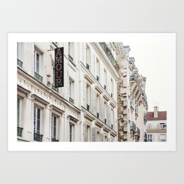 Hotel Amour in Montmartre, Paris Photography Art Print