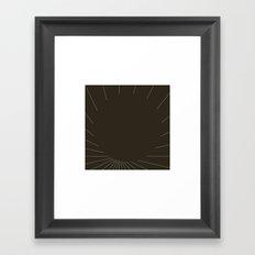 #420 Black matter – Geometry Daily Framed Art Print