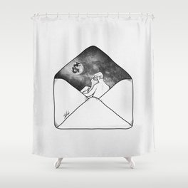 Unforgettable letter Shower Curtain