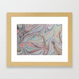 Marbled Multi-color Organic Pattern Framed Art Print