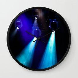 Blue Lights Wall Clock