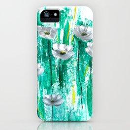 Gray poppies iPhone Case