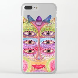 kindly expressed kind of kindness mask Clear iPhone Case