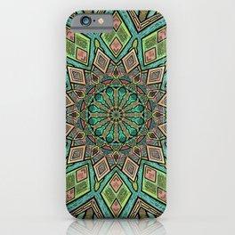 Glitched Mandala  iPhone Case