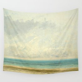 Calm Sea Oil Painting by Gustave Courbet Wall Tapestry
