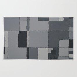 Grey Map  Rug