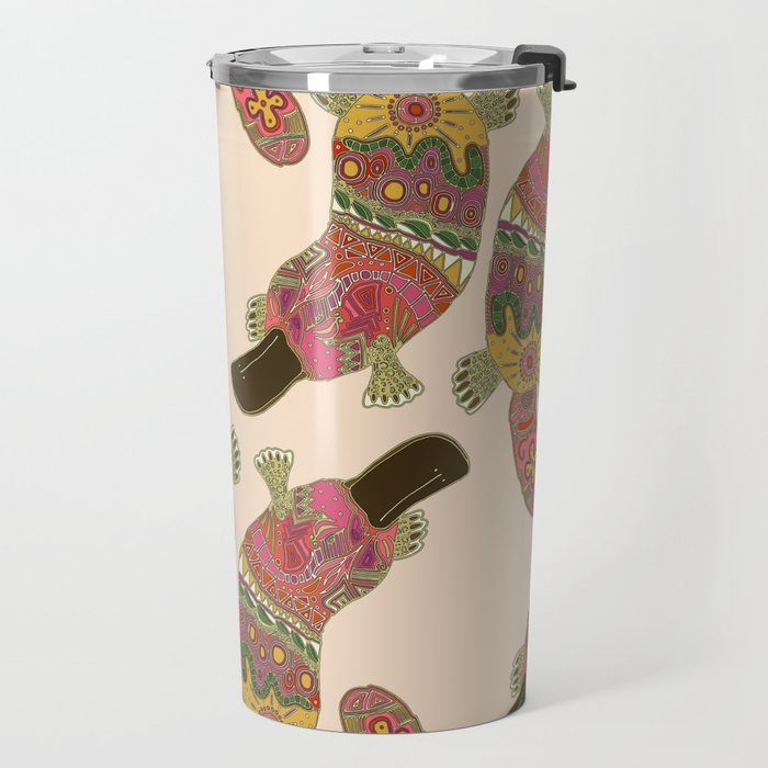duck-billed platypus linen Travel Mug