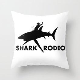 Shark Rodeo silhouette - Pop Culture Throw Pillow