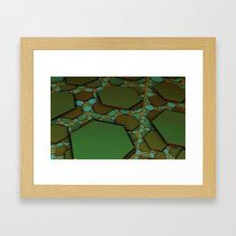 Hex Field  Framed Art Print