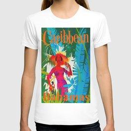 Vintage Caribbean Travel - Bahamas T-shirt