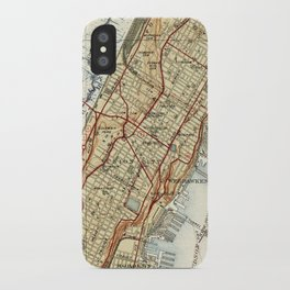 Weehawken, Union City & West New York Map (1935) iPhone Case