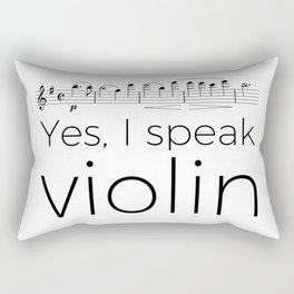 I speak violin Rectangular Pillow