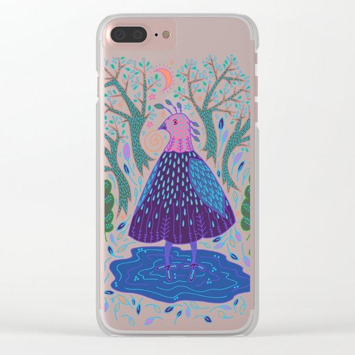 Bird Bath Clear iPhone Case
