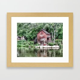 huck finn through glass Framed Art Print