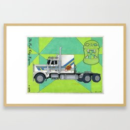 the pork-chop express with background Framed Art Print