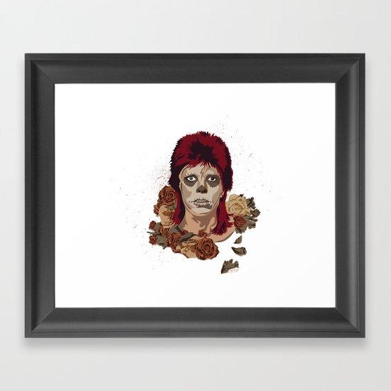 Ziggy de los Muertos Framed Art Print