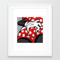 minnie mouse Framed Art Prints featuring Minnie Mouse by Alpha Gallery