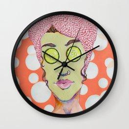 Spa Day Wall Clock