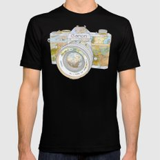 TRAVEL CAN0N SMALL Black Mens Fitted Tee