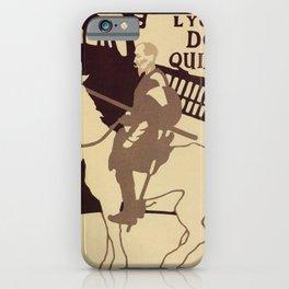 Beggarstaffs art Vintage Don Quixote Lyceum Theatre ad iPhone Case