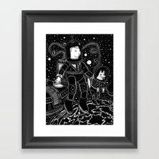 nostalgia espacial Framed Art Print