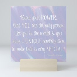 Know Your Power - Nancy Pelosi Quote Mini Art Print